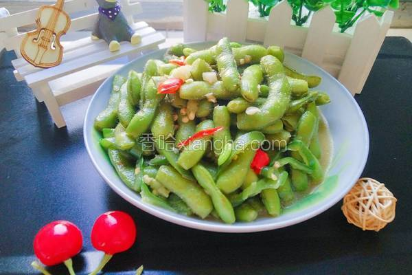 青椒五香毛豆