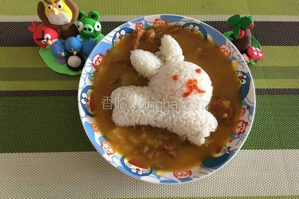 牛肉土豆泥咖喱饭