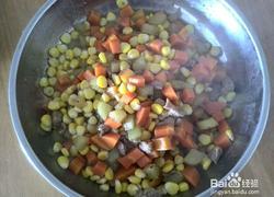 玉米红萝卜炒肉丁