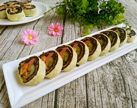 黑米鸡蛋卷(改装版寿司)
