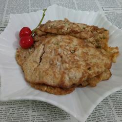 肉碎鸭蛋饼