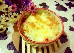 辣白菜培根芝士焗饭