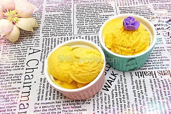 芒果冰淇淋(手工制作)