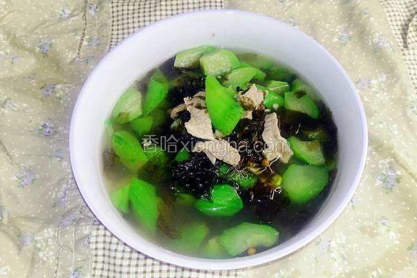 紫菜丝瓜肉片汤