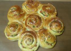 火腿香葱花型面包