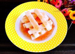 草莓酱汁淋山药