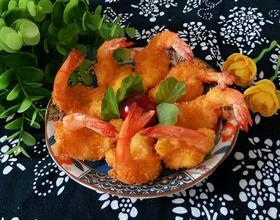 炸凤尾大虾