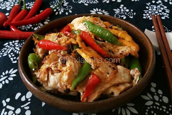辣椒豆豉炒荷包蛋