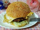 猪肉鸡蛋汉堡的做法[图]
