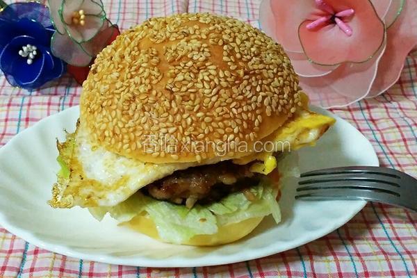 猪肉鸡蛋汉堡