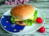 香酥鸡柳芝士汉堡的做法[图]