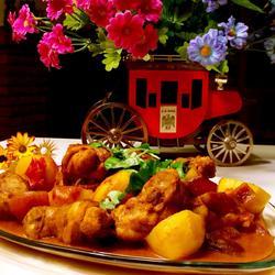 椰汁咖喱鸡块