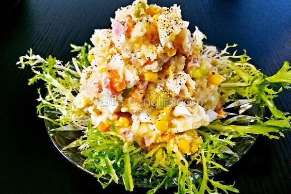土豆泥时蔬沙拉#年夜饭