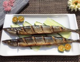 烤秋刀鱼[图]