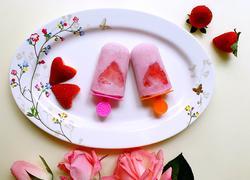草莓牛奶冰棒