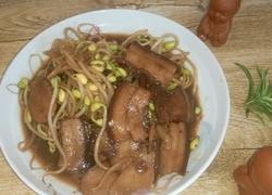 肉烧黄豆芽