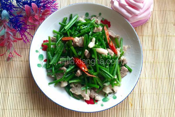 肉炒韭菜花