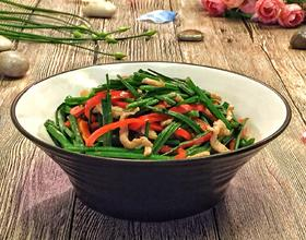 韭菜苔炒肉