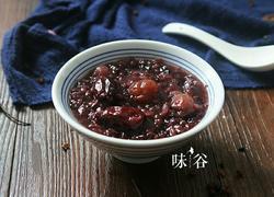 红枣桂圆黑米粥
