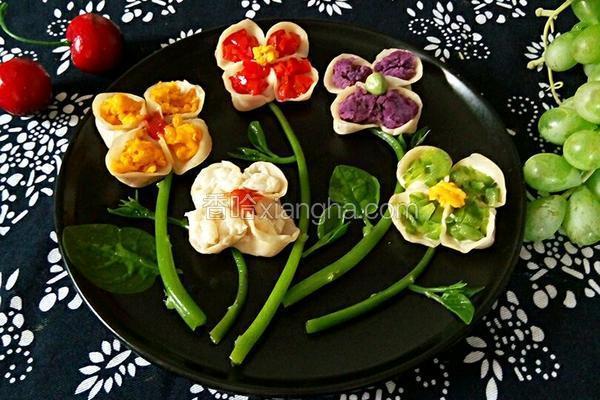 五色花蒸饺