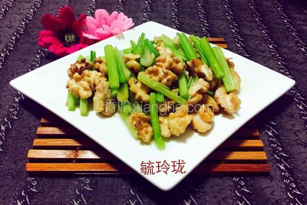 芹菜炒核桃仁