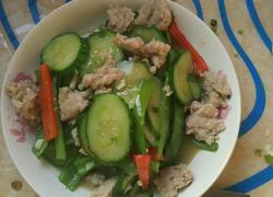 青瓜椒炒瘦肉