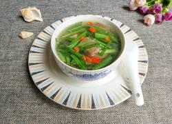 韭菜猪血汤