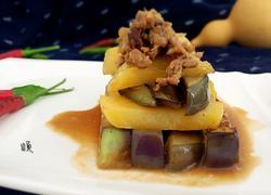 肉末酱焖茄子土豆