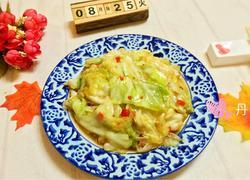 锅炝圆白菜