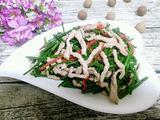 韭菜苔炒肉丝的做法[图]