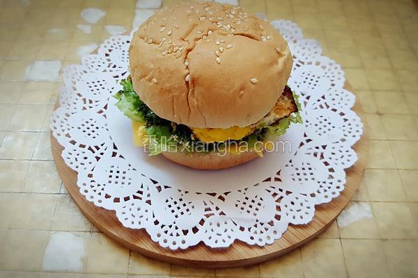 自制鸡排汉堡包