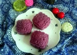 紫薯南瓜冰皮月饼