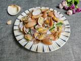 姜葱炒花蛤的做法[图]