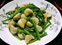 韭菜花炒青菱