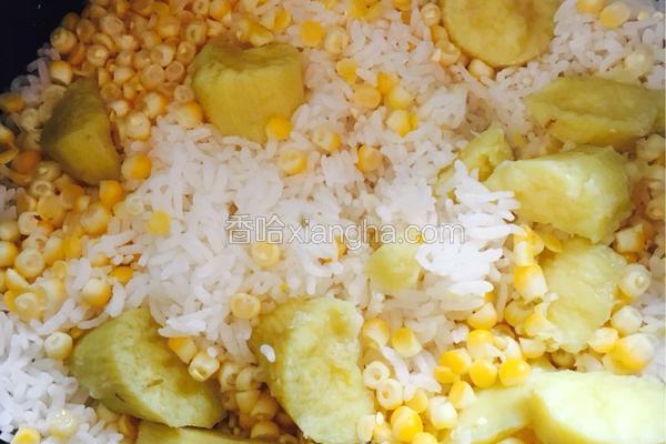 玉米地瓜饭