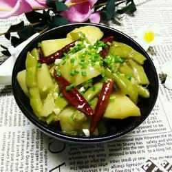 四季豆烧土豆