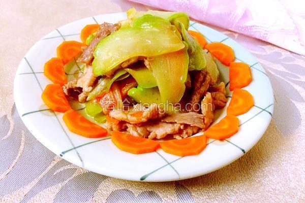 佛水瓜炒肉片