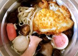 虾仁香菇鸡蛋面