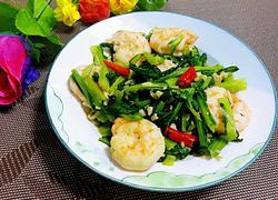 虾炒小白菜