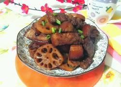 莲藕红烧肉