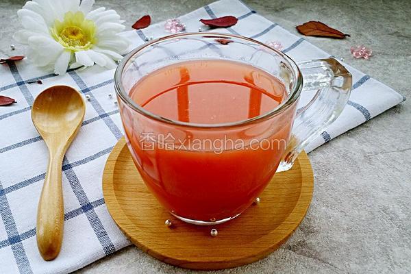 鲜榨西瓜雪梨汁