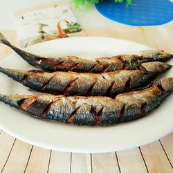干炸秋刀鱼