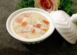 木瓜牛奶炖雪蛤