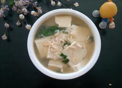 虾皮豆腐汤