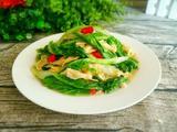 小白菜炒豆筋的做法[图]
