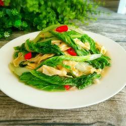 小白菜炒豆筋