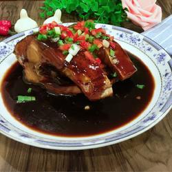 红烧花鲢鱼段