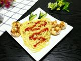 蒜香鲜虾意大利面的做法[图]