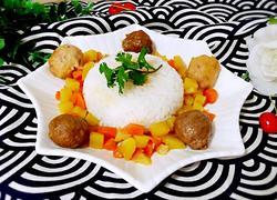 肉丸土豆盖浇饭