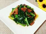 芥蓝炒腊肉的做法[图]